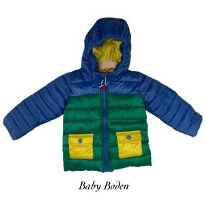 Baby Boden Daffodil Puffer Coat NWT Size 18-24M